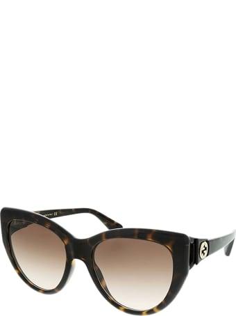 Gucci Gucci Gg0877s Havana Sunglasses