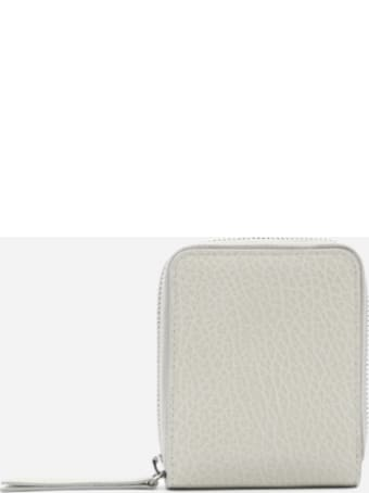 Maison Margiela Medium Leather Wallet With Tone-on-tone Logo Detail