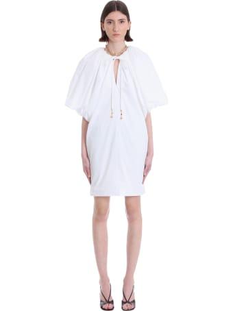 Lanvin Dress In White Cotton