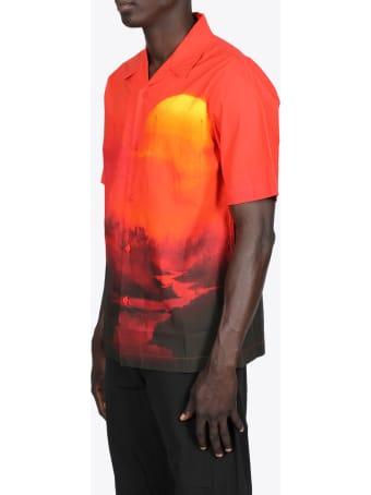 Maharishi Sunset Print Camp Collar Shirt