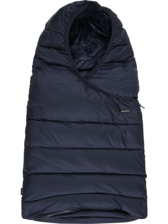 Woolrich Blue Sleeping Bag For Baby Kids With Logo