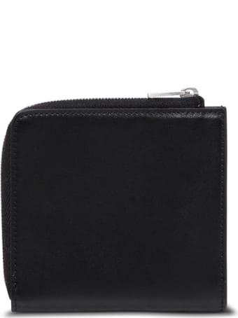 Jil Sander Black Leather Card Holder With Logo