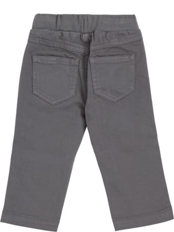Il Gufo Grey Cotton Pants With Pockets