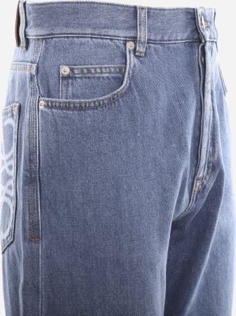 Loewe Cotton Denim Jeans With Anagram Detail