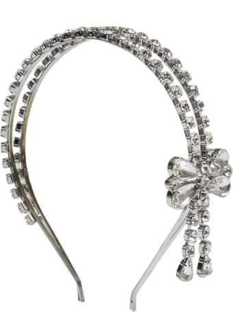 Alessandra Rich Crystal Bow Headband