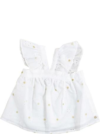 Lili Gaufrette Newborn Shirt With Embroidery