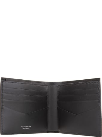 Givenchy Man Trompe L'oeil Wallet In Black Leather