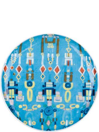 Le Botteghe su Gologone Plates White Murano Glass Colores 21 Cm