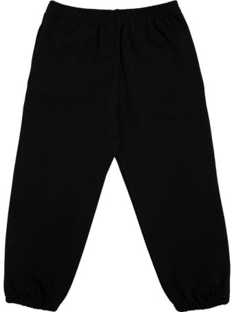 Balenciaga Black Cotton Joggers With Logo Print