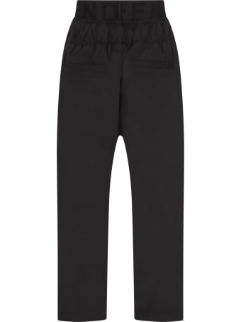 Fendi Black Pants With Logo For Boy