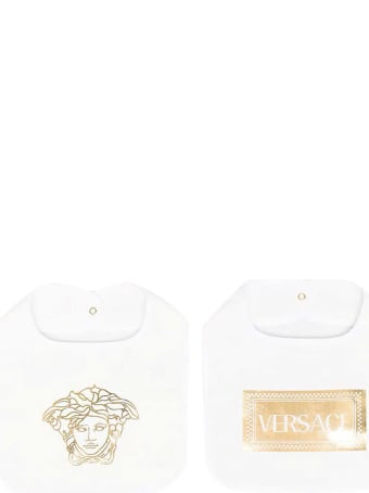 Versace Young White Bibs