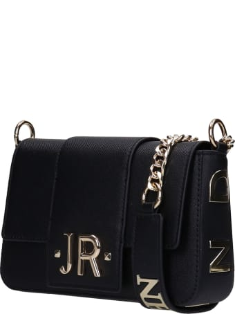 John Richmond Indin Shoulder Bag In Black Polyuretan