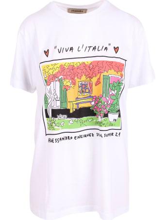 Alessandro Enriquez 'aess21 Print' Cotton T-shirt