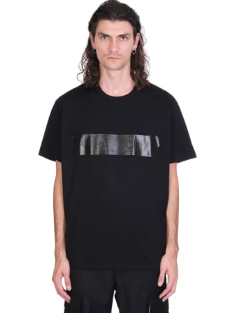 Givenchy Latex Band T-shirt In Black Cotton