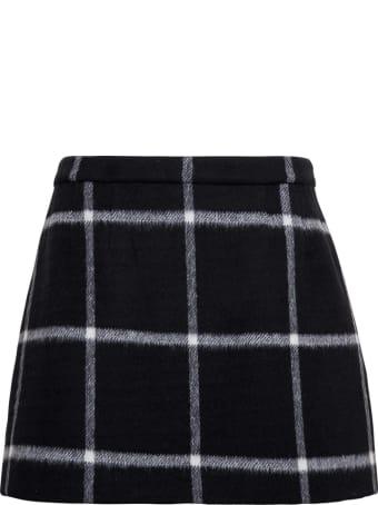 RED Valentino Wool Check Skirt
