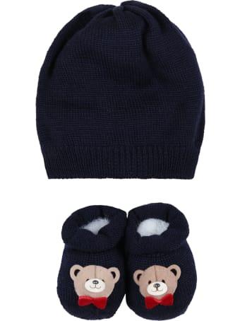 La Perla Blue Set For Baby Kids With Bear