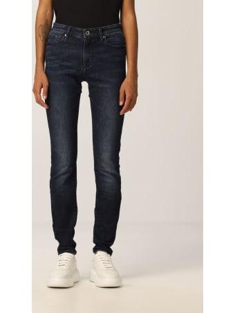 Armani Collezioni Armani Exchange Jeans Mid-rise Super Skinny Stretch Used Denim