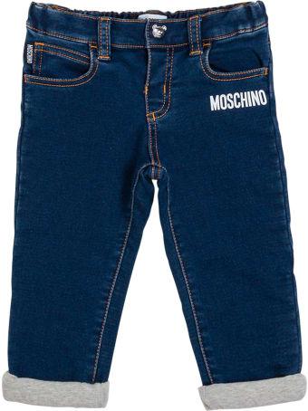 Moschino Blue Denim Jeans With Logo