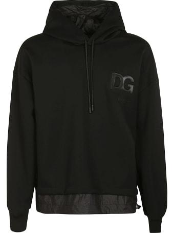 Dolce & Gabbana Chest Logo Layered Hoodie
