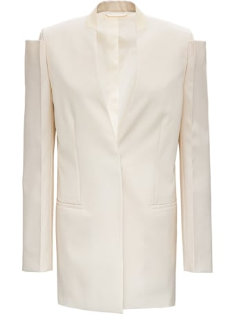 Givenchy Collarless Wool Blazer