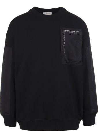 Givenchy Man Black Bimaterial Givenchy Sweatshirt
