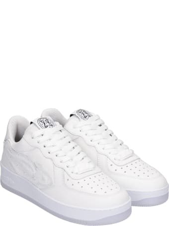 Enterprise Japan Sneakers In White Leather