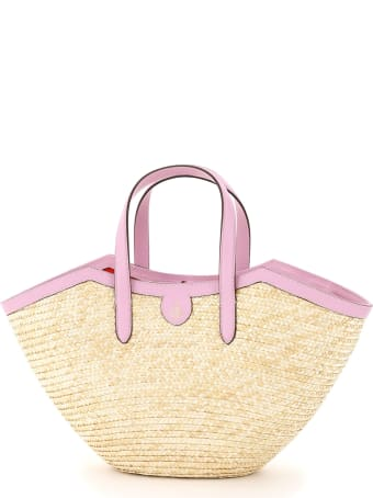 Mark Cross Madeline Straw Basket Bag