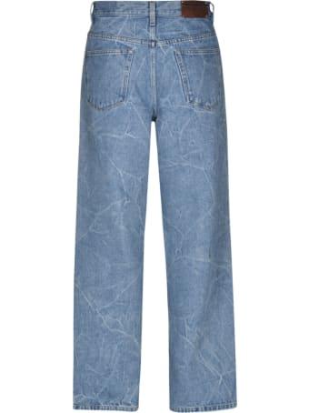 Dries Van Noten Crack Effect Jeans