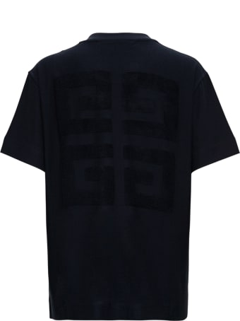 Givenchy Black Cotton T-shirt With Logo