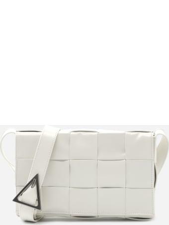 Bottega Veneta Cassette Bag In Leather With Woven Pattern