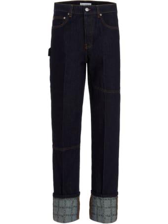 J.W. Anderson 'logo Grid Turn Up Workwear' Jeans