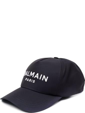 Balmain Cotton Twill Cap