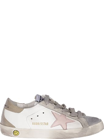 Golden Goose Superstar Leather Upper And Star Checkered