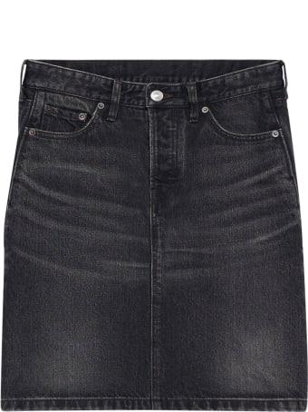 Balenciaga Flatground Skirt Denim