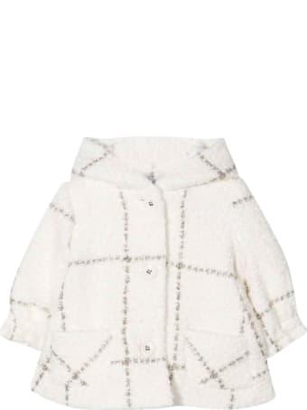 Monnalisa Cream Baby Girl Duffle Coat