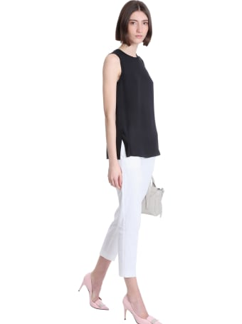 Theory Pants In White Linen