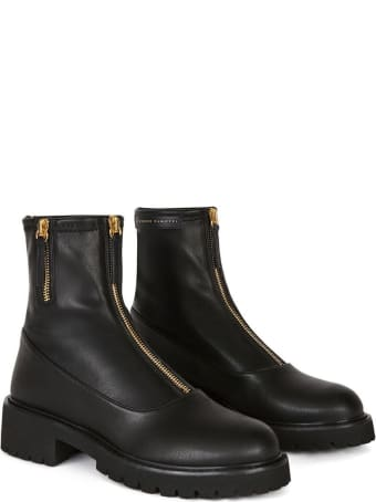 Giuseppe Zanotti Alexa Ankle Boots In Black Leather