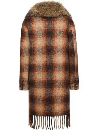 Bazar Deluxe Check Furred Coat