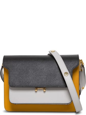 Marni Trunk Crossbody Bag In Multicolor Leather