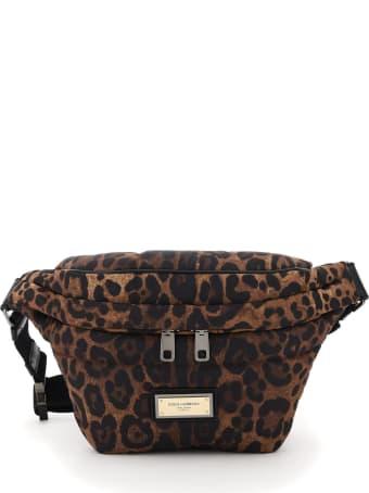 Dolce & Gabbana Leopard-print Nylon Beltbag