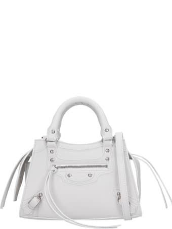 Balenciaga Neo Classic Hand Bag In White Leather
