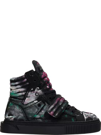 Gienchi Hypnos Shake Sneakers In Black Canvas