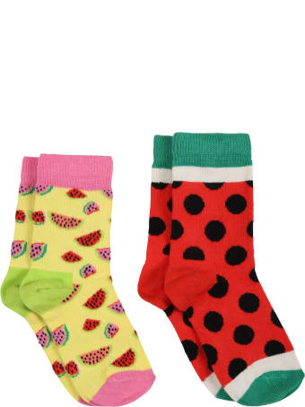 Happy Socks Multicolor Set For Kids With Watermelons