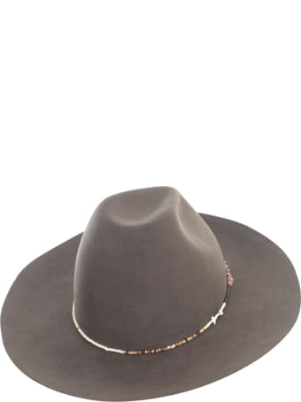 Super Duper Hats Round Crown Large Raw Brim Casamarina Beadwork