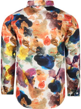 Wolf & Rita White ''roberto'' Shirt For Kids