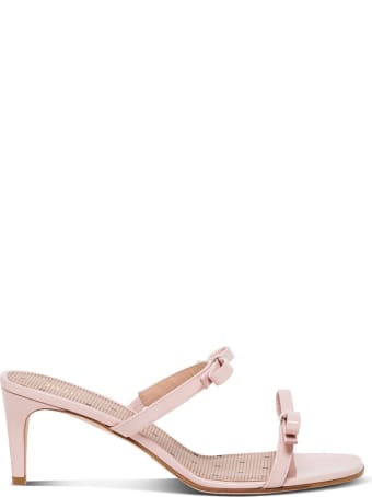 RED Valentino Pink Patent Mules With Bows