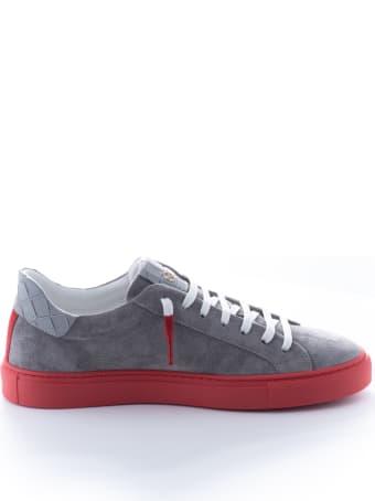 Hide&Jack Oil Grey Red Sneakers