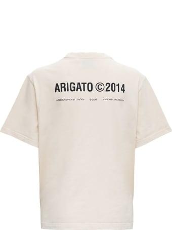 Axel Arigato Beige Cotton T-shirt With Logo