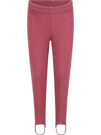 Douuod Fuchsia Leggings For Girl With Lurex Details
