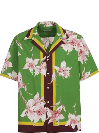 Valentino Regular Fit Floral Print Shirt